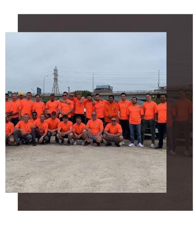 photo of the ahs bins toronto team
