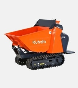 Image depicts the Kubota KC70 power wheelbarrow