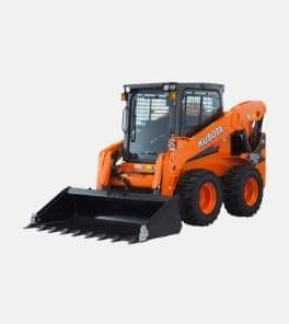Image depicts the Kubota SS75 steer loader