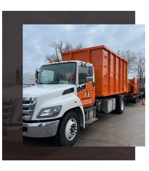 Image depicts Bins Toronto truck with a rental bin