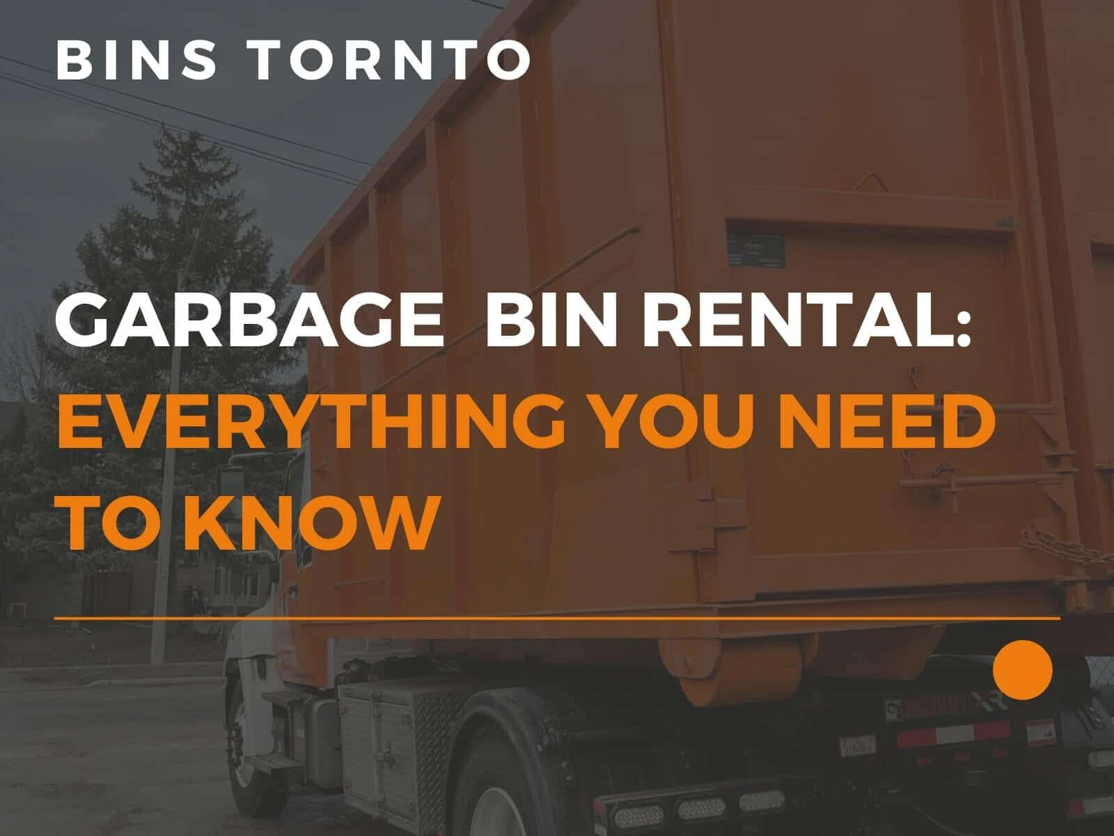 Bins Toronto garbage bin rental