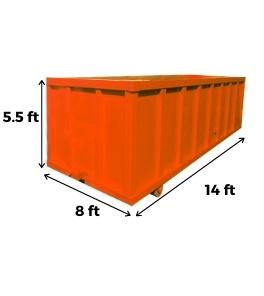 20 yard bin dimensions